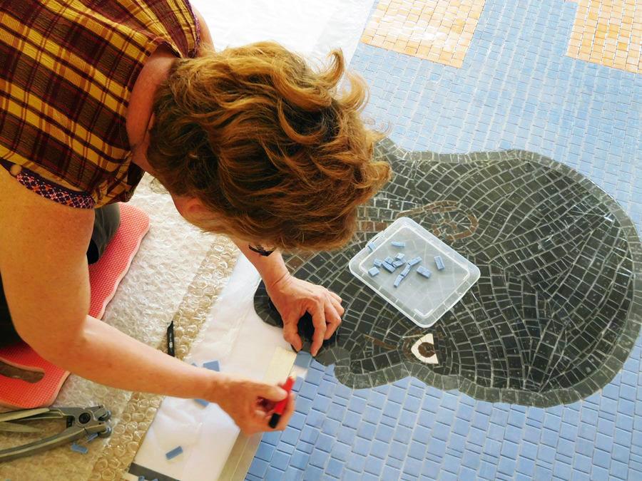 L'art de pose de mosaïques