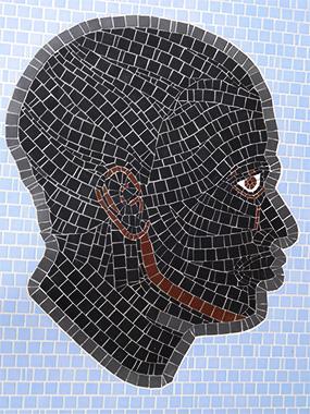 Tête de Maure en mosaïque.